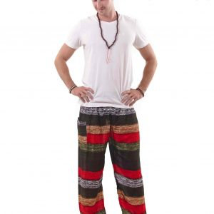 Elements Harem Boho Pants for Men in Jungle Colors - front