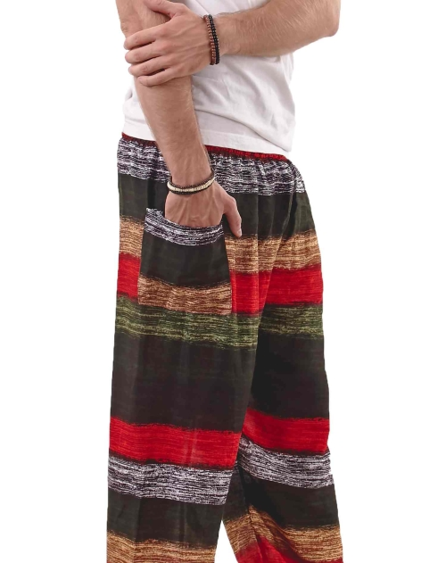 Elements Harem Boho Pants for Men in Jungle Colors - side