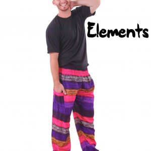 Elements Harem Boho Pants in Spring Colors for Men - front