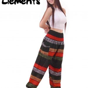 Elements Harem Boho Pants in Jungle Colors - front