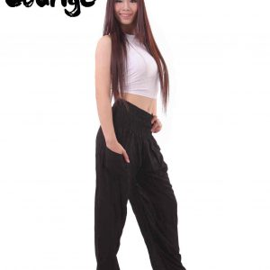 Harem Genie Pants in Black - side