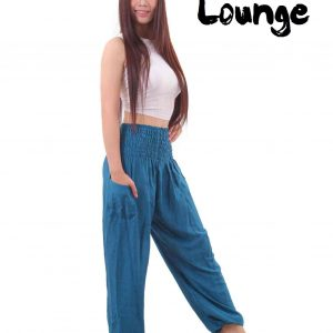 Harem Genie Pants in Blue - front