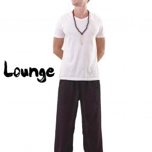 Harem Genie Pants for Men in Black - front