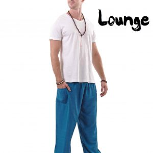 Harem Genie Pants for Men in Blue - front