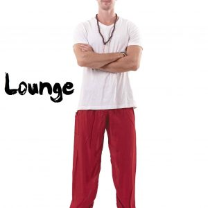 Harem Genie Pants for Men in Red - front