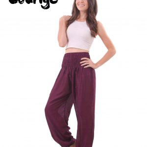 Harem Genie Pants in Purple for Women - front