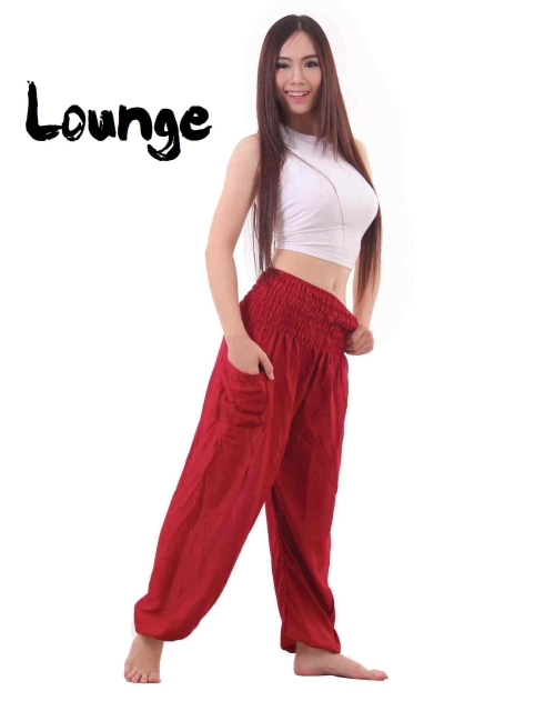 Harem Genie Pants in Red - front