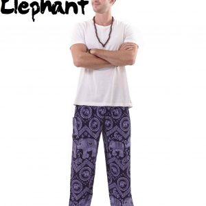 Harem Thai Elephant Pants in Blue - front