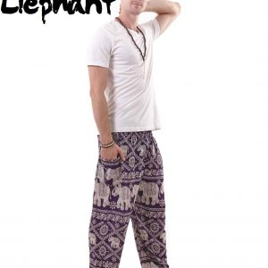 Harem Thai Elephant Pants in Purple - front