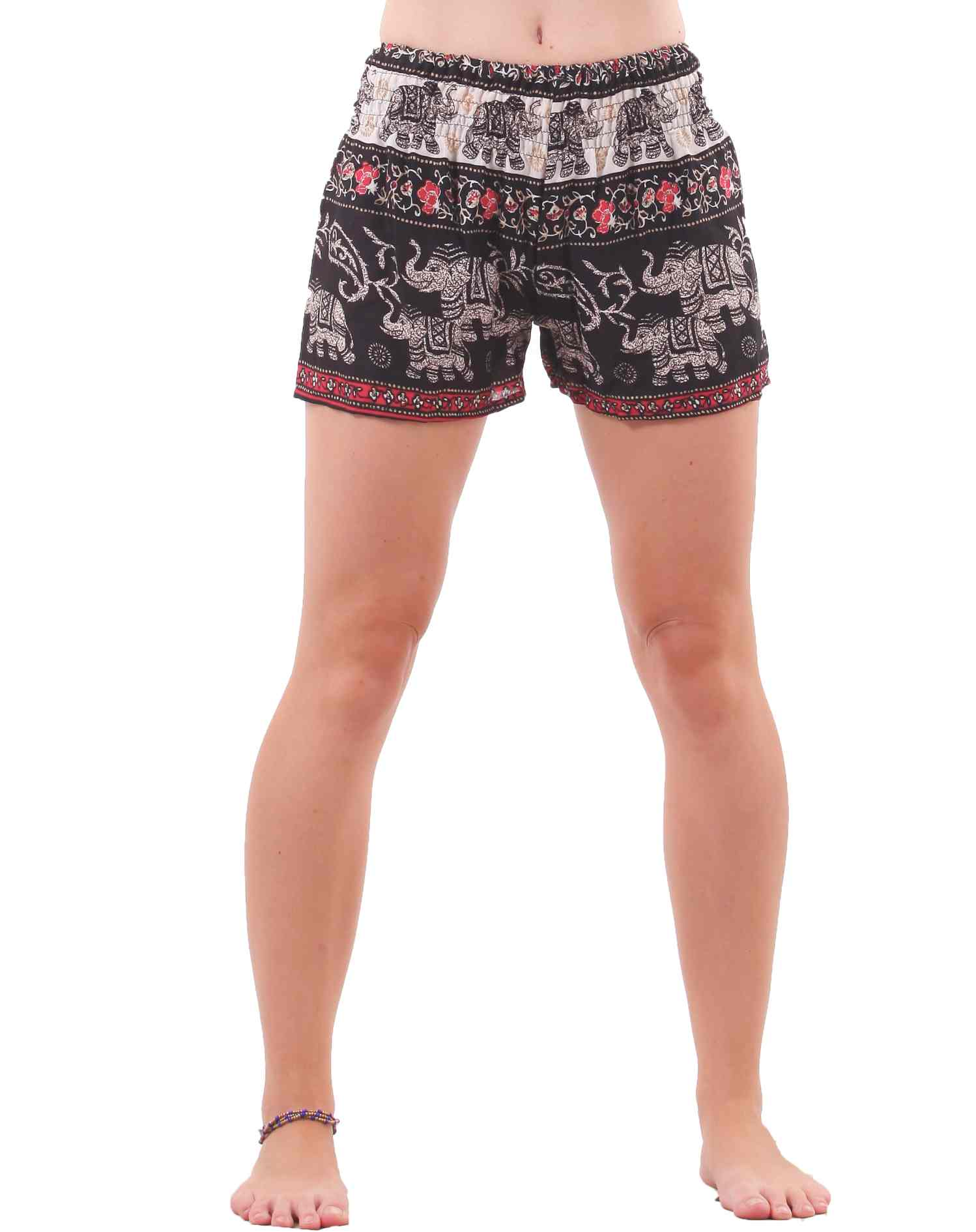 Cute, chic, boho, comfy, sexy, comfy, comfy, comfy and even more comfy! You're gonna fall right in love with our shorts! Like the harem pants, these babies have a comfy elastic waist (except the 3 pairs with drawstring option) and are super lightweight and easy to wear.