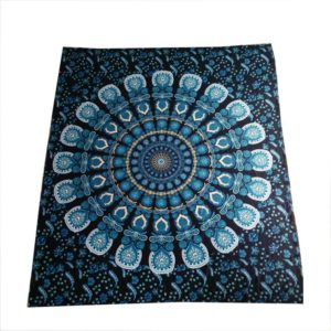 boho tapestry in blue