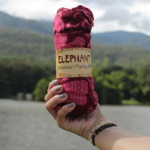 elephant pants red wrapped