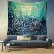 bohemian tapestry in blue