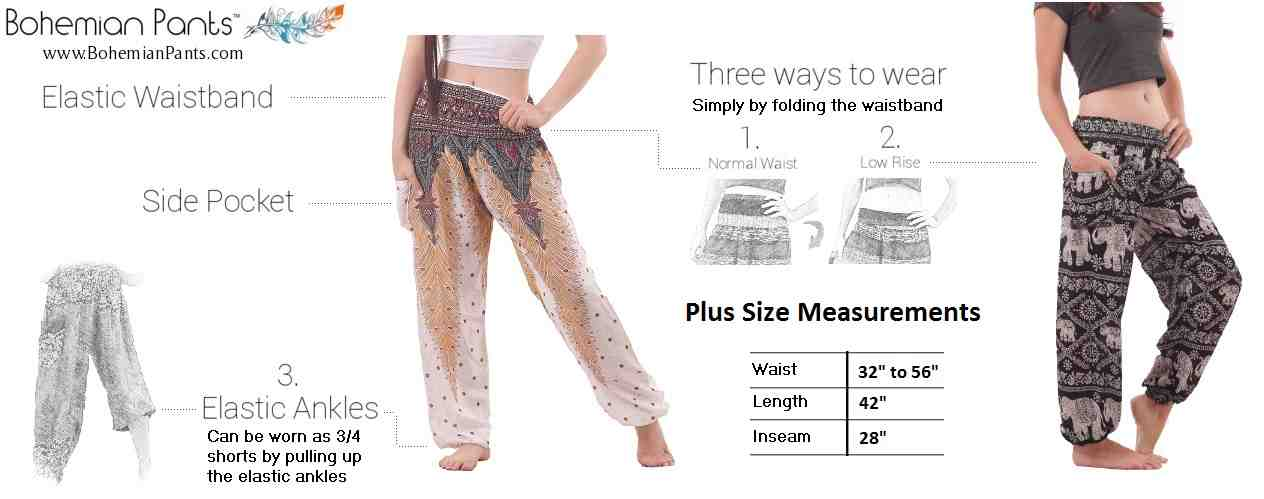 Harem Pants Plus Size Measurements