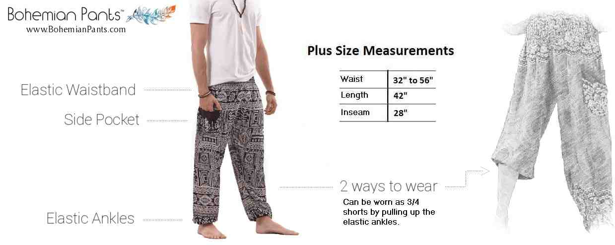Plus Size Harem Pants for Men